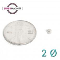 네오디움 강력 원형자석 2mm
