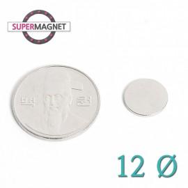 네오디움 강력 원형자석 12mm