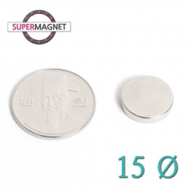 네오디움 강력 원형자석 15mm