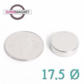 네오디움 강력 원형자석 17.5mm