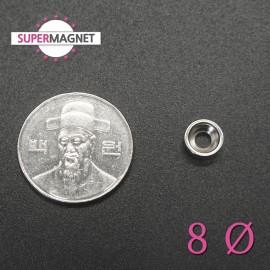 네오디움 강력 원형사라자석 8mm