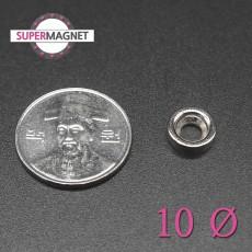 네오디움 강력 원형사라자석 10mm