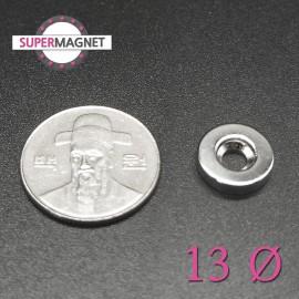 네오디움 강력 원형사라자석 13mm