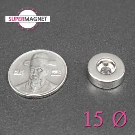 네오디움 강력 원형사라자석 15mm