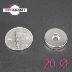 네오디움 강력 원형사라자석 20mm