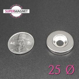 네오디움 강력 원형사라자석 25mm
