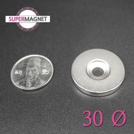 네오디움 강력 원형사라자석 30mm