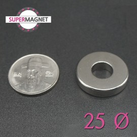네오디움 강력 링자석 25mm