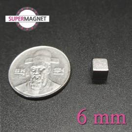 네오디움 강력 사각자석 6mm