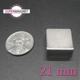 네오디움 강력 사각자석 21mm