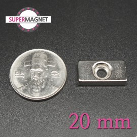 네오디움 강력 사각사라자석 20mm
