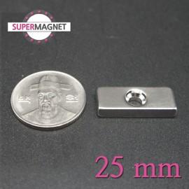 네오디움 강력 사각사라자석 25mm