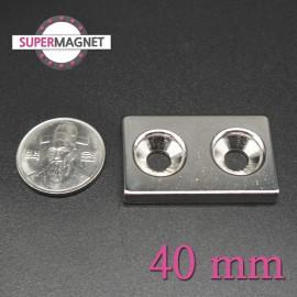 네오디움 강력 사각사라자석 40mm